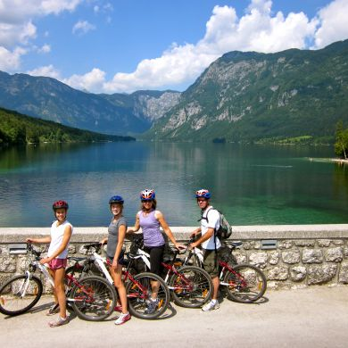 Guided Biking and Hiking Tours Alps Slovenia collage 9