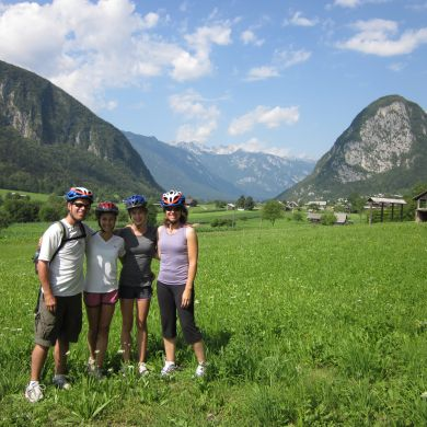 Guided Biking and Hiking Tours Alps Slovenia collage 10